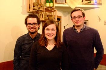 Der Vorstand 2016/17 (v.l.): Michael (stellvertretender Vorsitzender), Larissa (Vorsitzende), Philipp (Kassenwart)